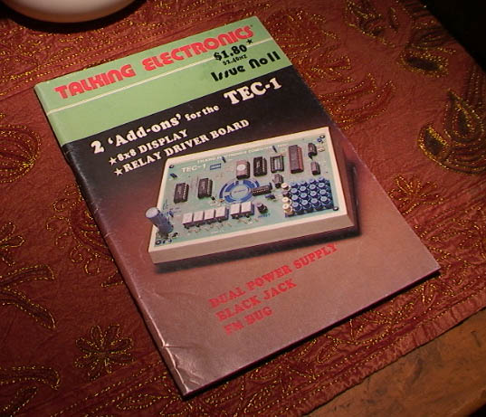Image of Talking Electronics Magazine Australia Issue 11 featuring colour photograph of TEC 1 Microcomputer