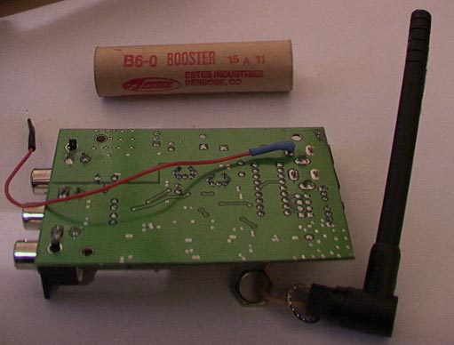 12V power feed soldered directory to transmitter PCB for increased reliability